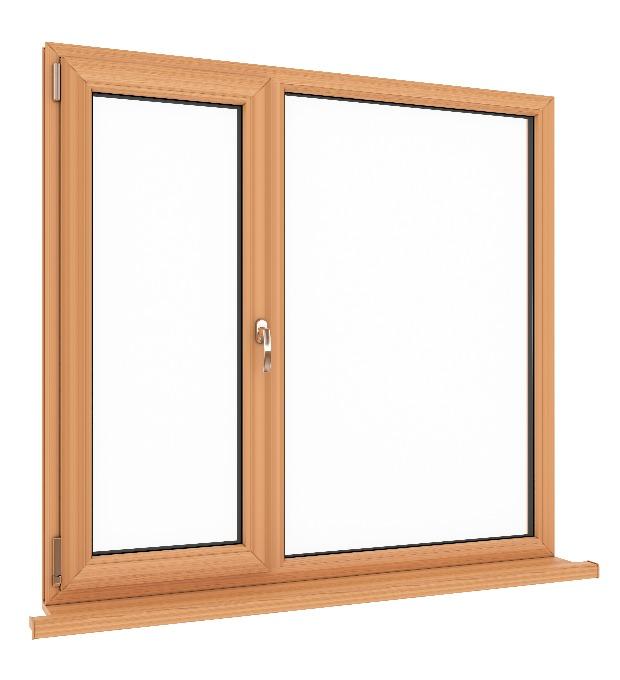 Fenster mit Holzrahmen